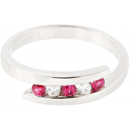 Marvelous Ruby and Diamond Ring - B13697