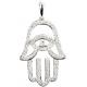 Fatima hand with Eye shaped Diamond Pendant - B13703