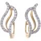 Leaf Shape Diamond Earring - B13833