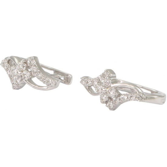 Angular Diamond Earings -B13837