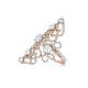 French Flower Design Diamond Ring