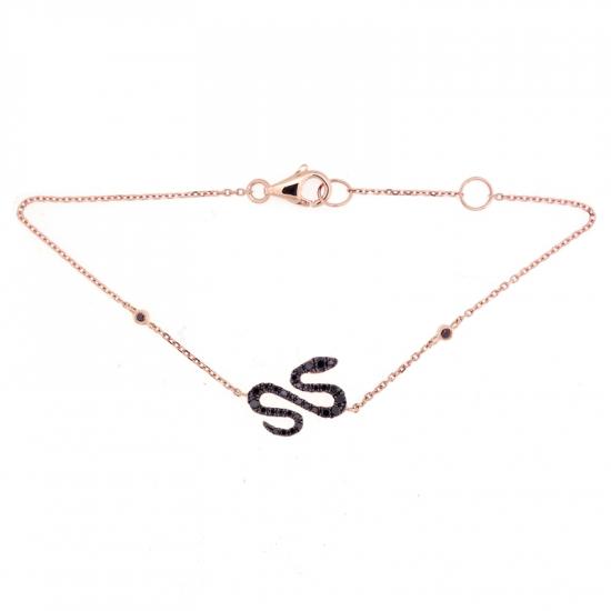 SNAKE DESIGN DIAMOND BRACELET-B13989