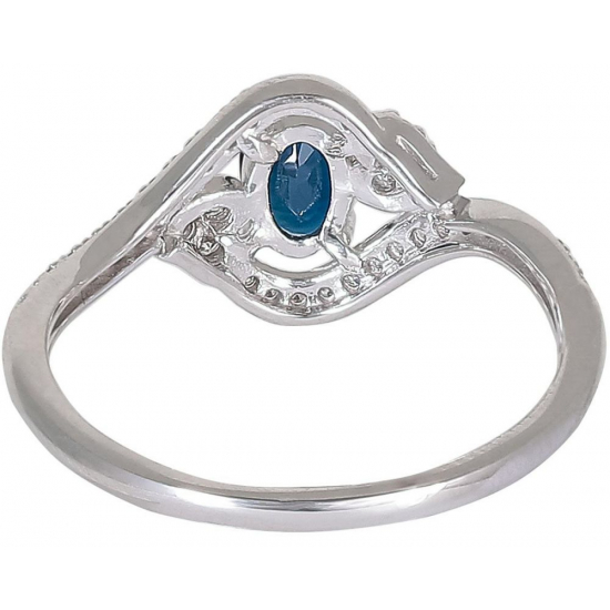 Blue Estrella Diamond ring