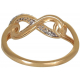 Yellow Infinity Ring