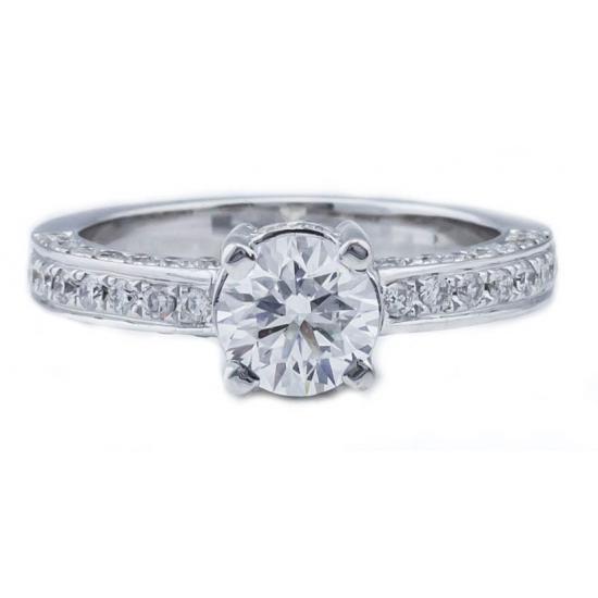 Flush Engagement Ring