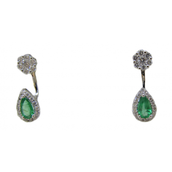 ECO EMERALD EARRINGS WITH STUDS