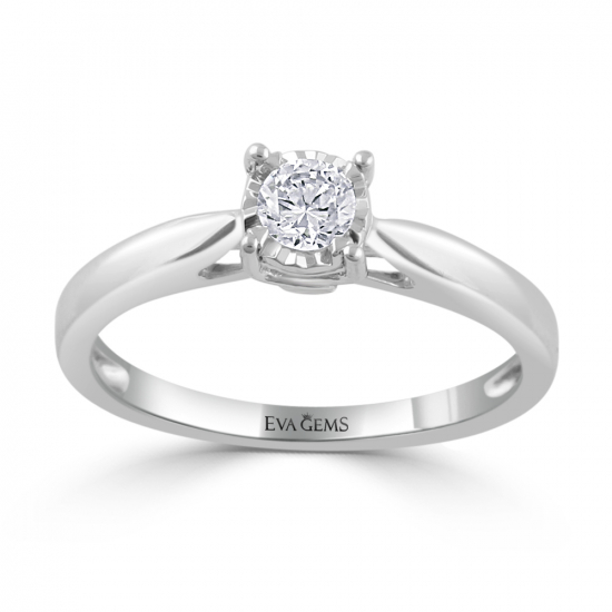 ronud cut engagement ring