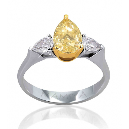 PEAR FANCY YELLOW RING-B15348