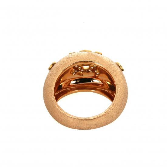 Sunshine Rose Gold Diamond Ring