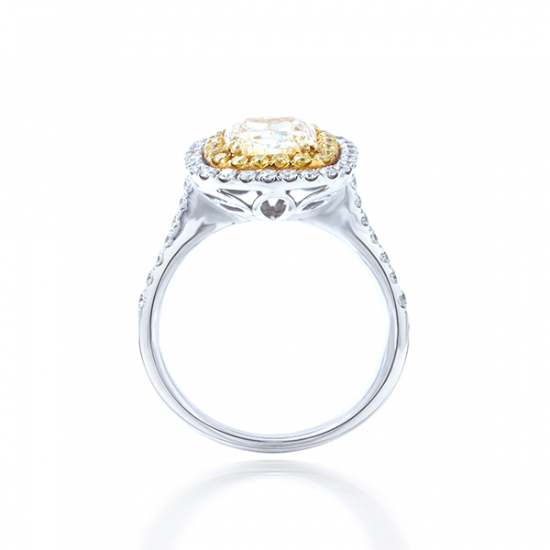Canary Cluster Diamond Ring - B17521