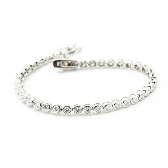 Round Cut Tennis Bracelet