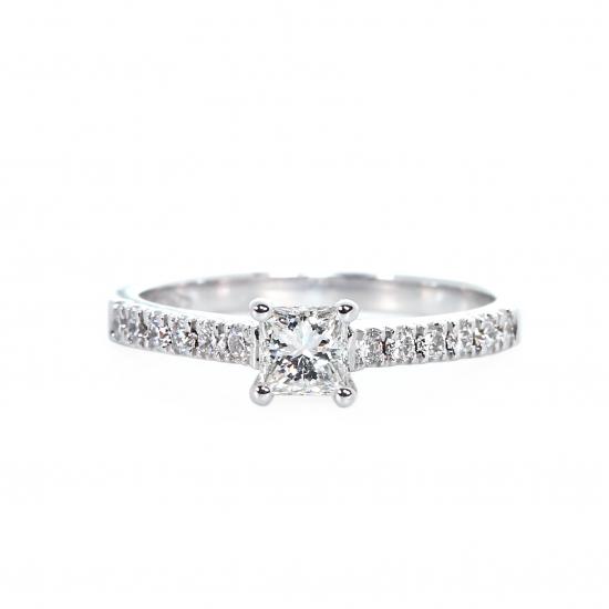 Flawless Princess Engagement Ring