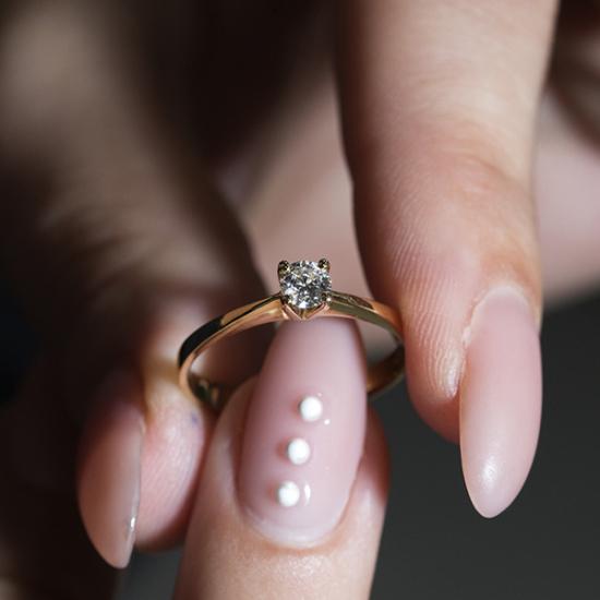 Round Cut Elegant Solitaire Ring