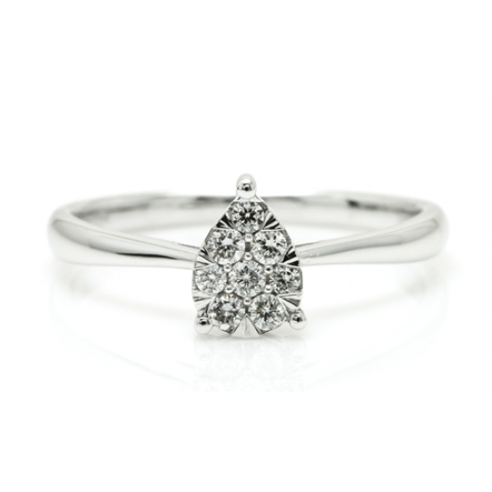 Royal Pear Shape Diamond Ring
