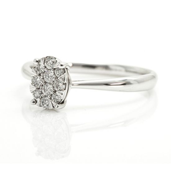 Shine together solitaire ring