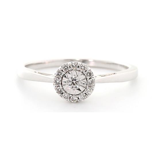 Crown Illusion Setting Diamond Ring