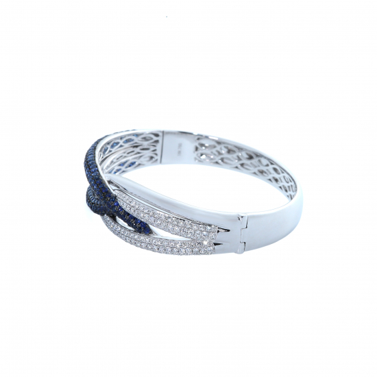 Inspirational colored diamond bangle