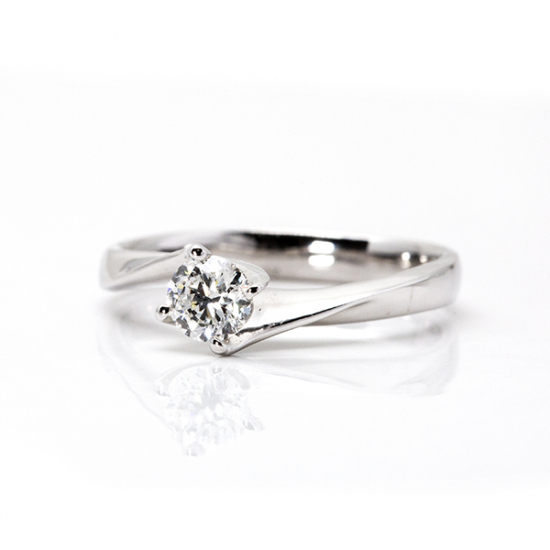 Classic 4-Prong Round Solitaire Engagement Ring