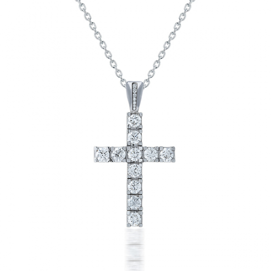 Elegant Cross Diamond Pendant