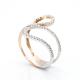 Unique Weave Round Diamond Ring