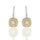 Yellow diamond drop earring