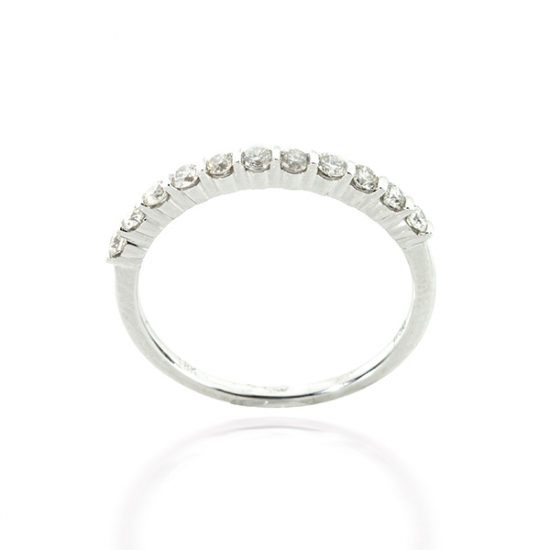 Open Pave Half Eternity Diamond Ring