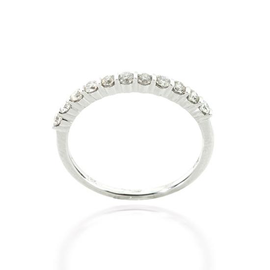 Open Pave Half Eternity Diamond Ring