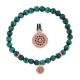 Malachite Bead Blossom Diamond Bracelet