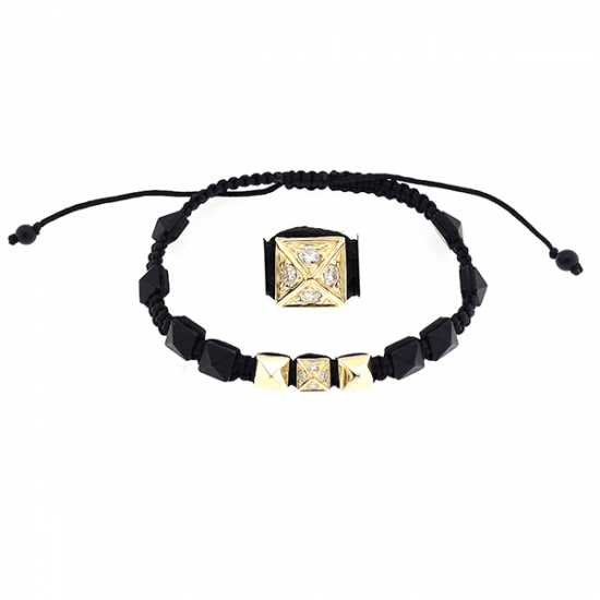 Black Tan Diamond Bracelet