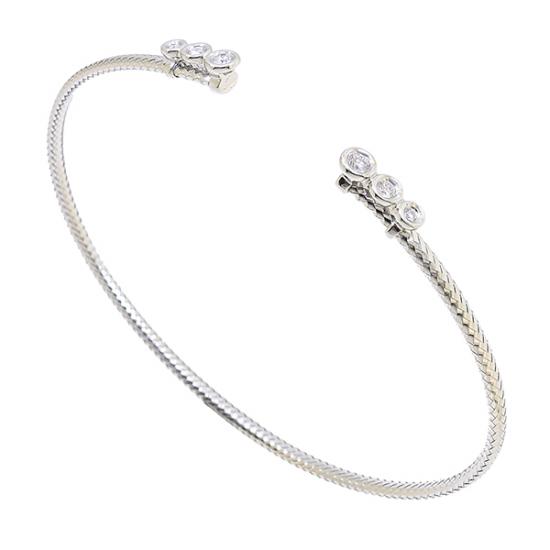 Half seeting diamond bangle