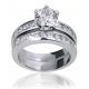 Twin Engagement Diamond Ring-Or1174