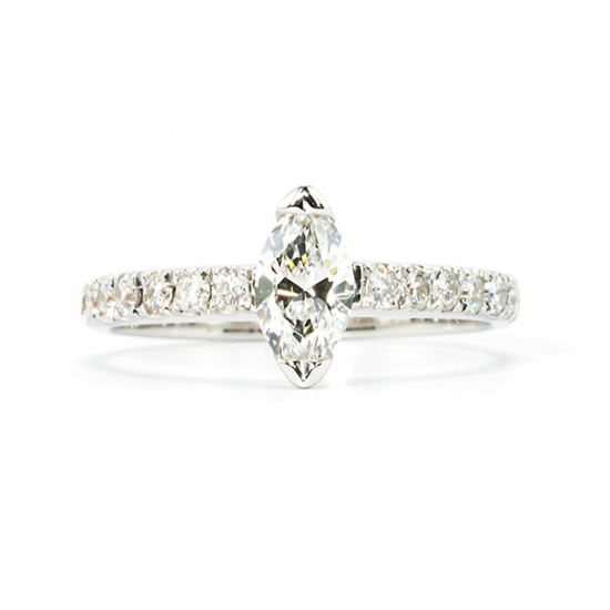 classic marquise cut engagement ring