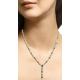 Multi Color pear form diamond necklace set