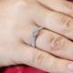 Round Cut Split Shank Halo Engagement Ring