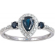 Nancy's Tear drop Sapphire Ring