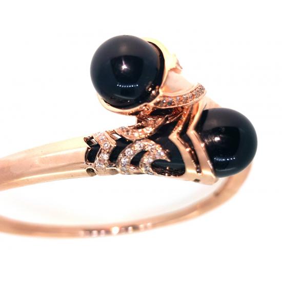 Black Onyx Exotic Bangle