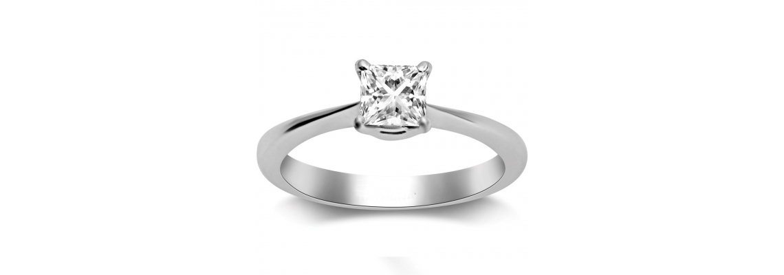 Get Unique and Attractive Princess Cut Diamond Engagement Rings From Online