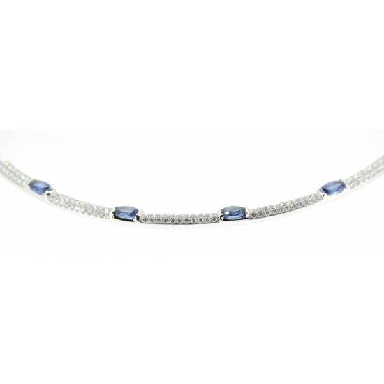Blue Intervention Diamond Necklace (or1105)