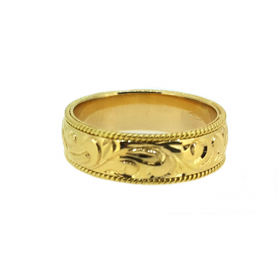 CALLIGRAPHY WEDDING BAND-OR1155