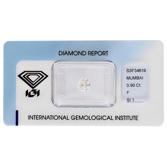 Round diamond 0.90-SI1-IGi